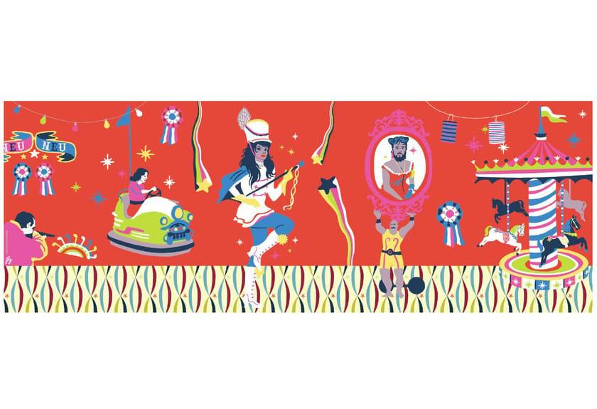 Wallpaper strip FÊTANEUNEU by CONCEPTUWALL