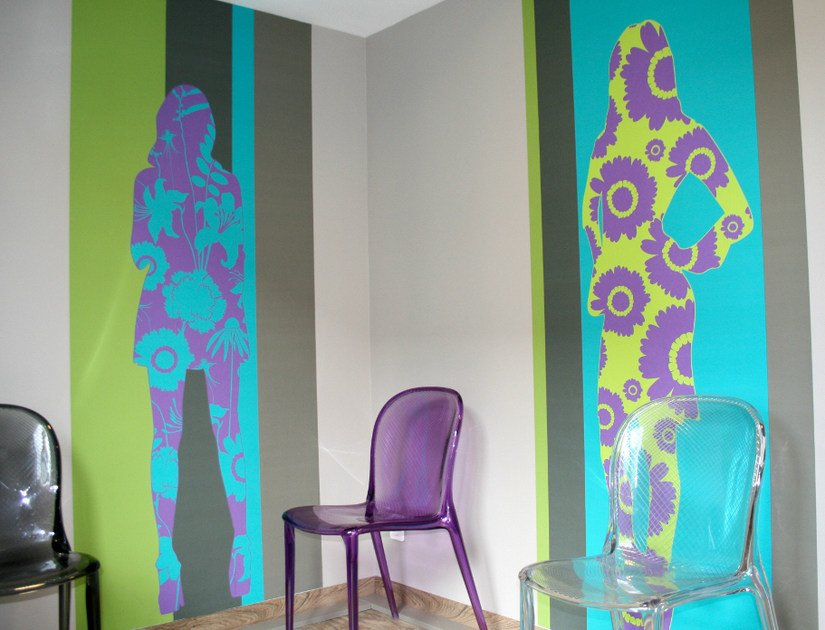 Wallpaper strip SILHOUETTES ET DÉCORS by CONCEPTUWALL
