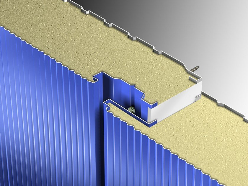 Insulated metal panel for facade STAR by Isolpack