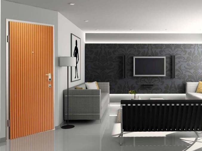 HDF armoured door panel DIBIDOKU LINEAR By DiBi Porte Blindate