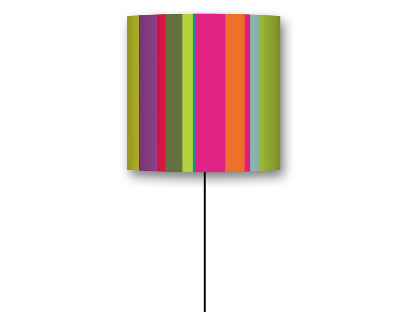 Drum shaped lampshade RAYURE by CONCEPTUWALL