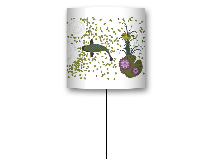 Drum shaped lampshade KOI by CONCEPTUWALL