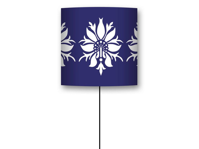 Drum shaped lampshade PONDICHÉRY by CONCEPTUWALL