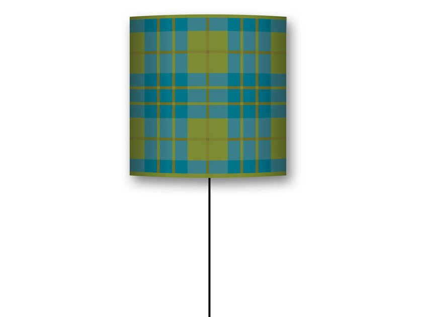 Drum shaped lampshade TARTAN by CONCEPTUWALL