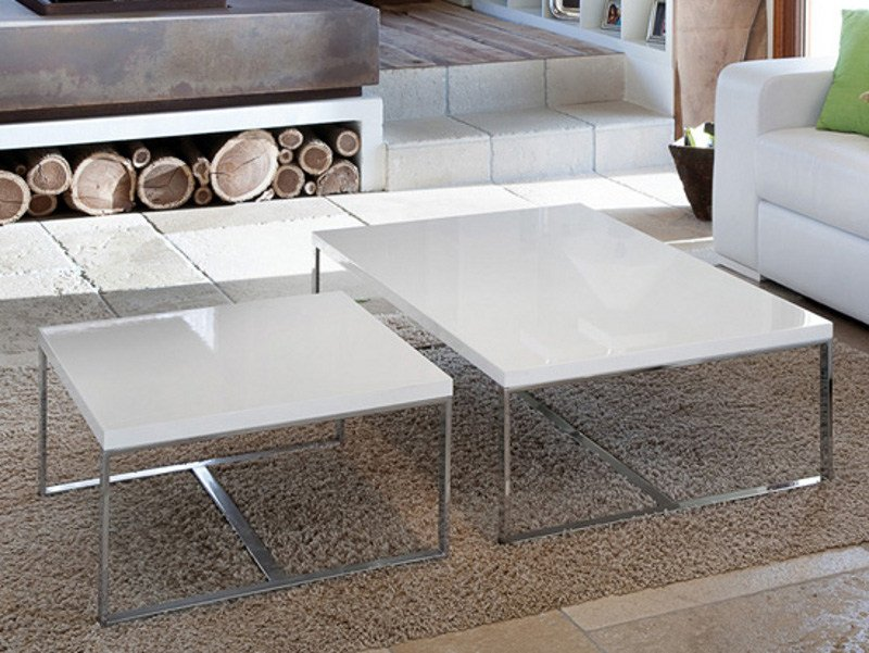 Low square coffee table SUSHI-L by DOMITALIA