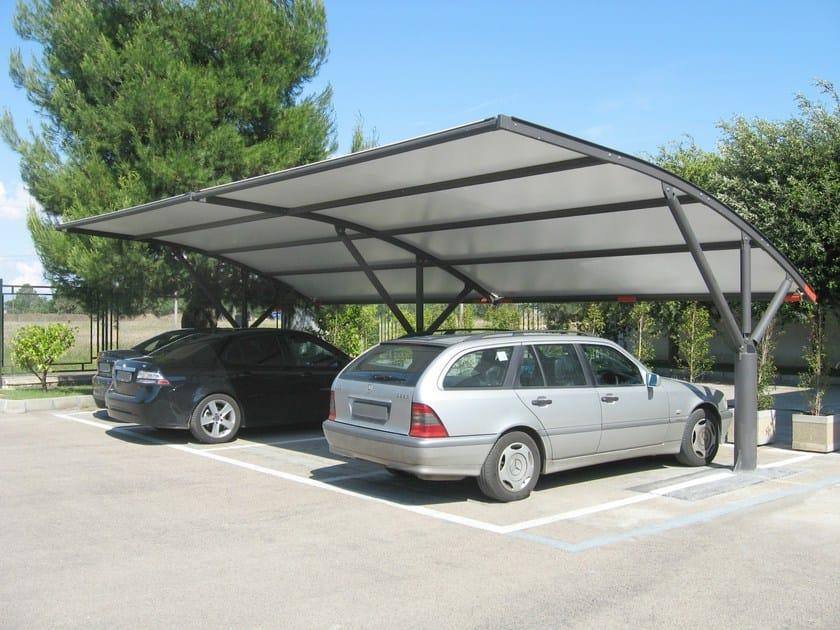 Pensilina per aree parcheggi astore sprech for Pensiline in ferro prezzi