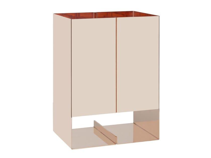 Copper table lamp SEAM TWO SOLID COPPER by e15