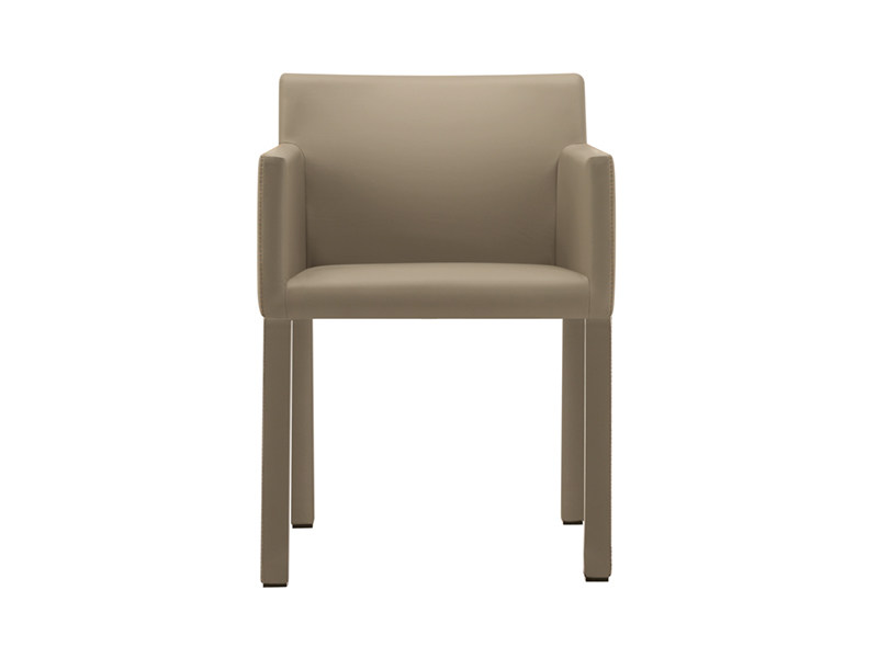 Upholstered chair with armrests - MASAI - poltroncina base imbottita