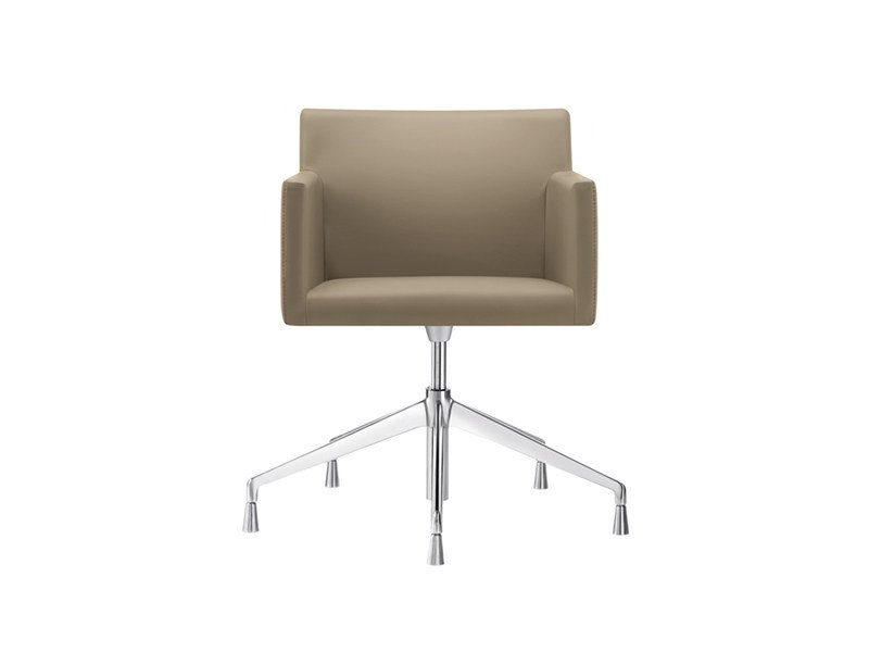 Trestle-based task chair with 5-Spoke base with armrests MASAI | Trestle-based task chair by arper