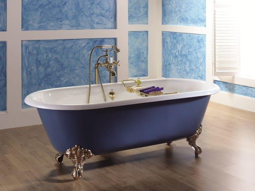 Vasca Da Bagno Ghisa : Vasca da bagno ovale in ghisa su piedi vintage vasca da bagno su