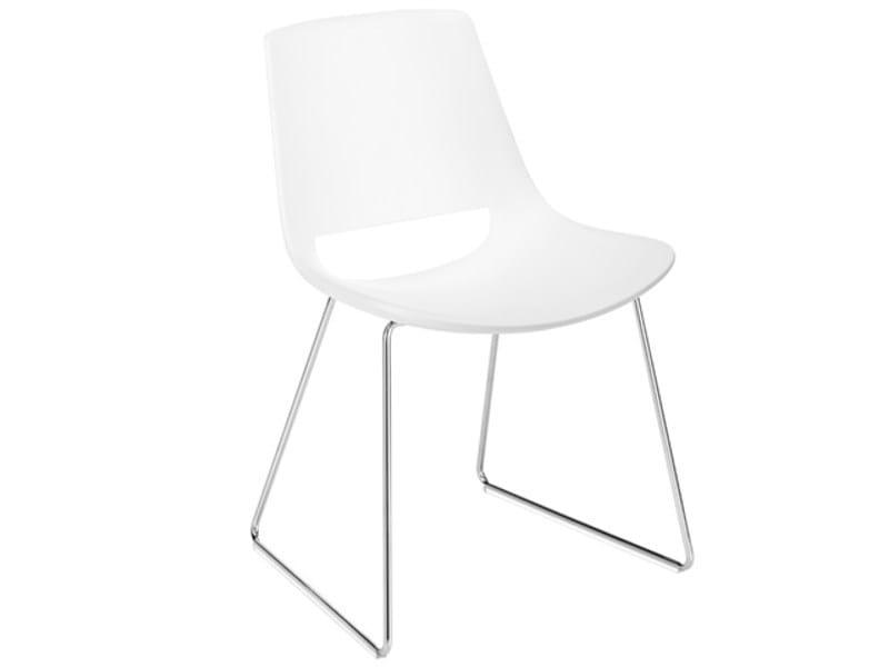 Sled base chair PALM   Sled base chair by arper