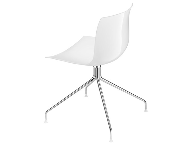Swivel trestle-based chair CATIFA 53 | Trestle-based chair by arper