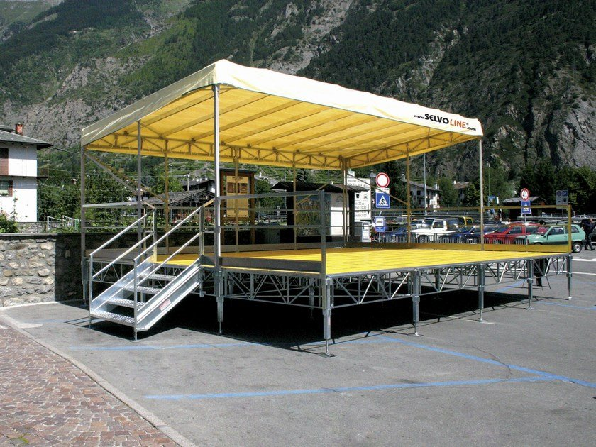 Modular system for steel platform and stand EASY by SELVOLINA