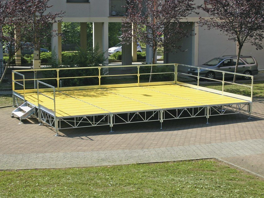 Modular system for steel platform and stand DELUXE by SELVOLINA