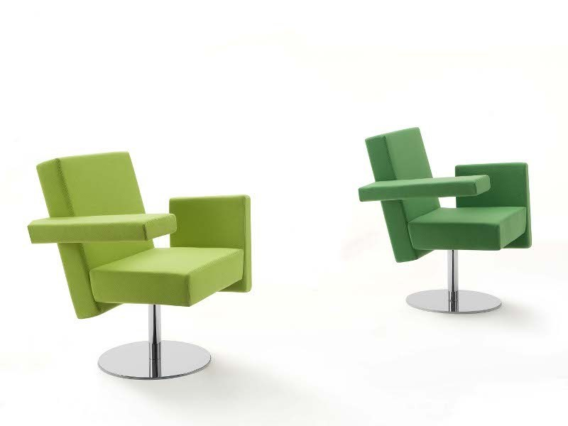 Swivel armchair with armrests MEET ME I887 by Segis