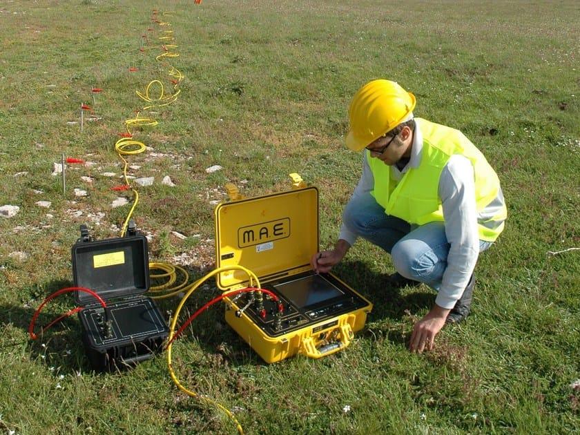 Instrumentation for geognostic investigation MULTI-ELECTRODE GEOELECTRICAL PROSPECTIN by Mae