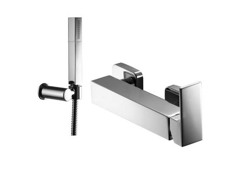 Shower mixer with hand shower KUBIK by Gattoni Rubinetteria