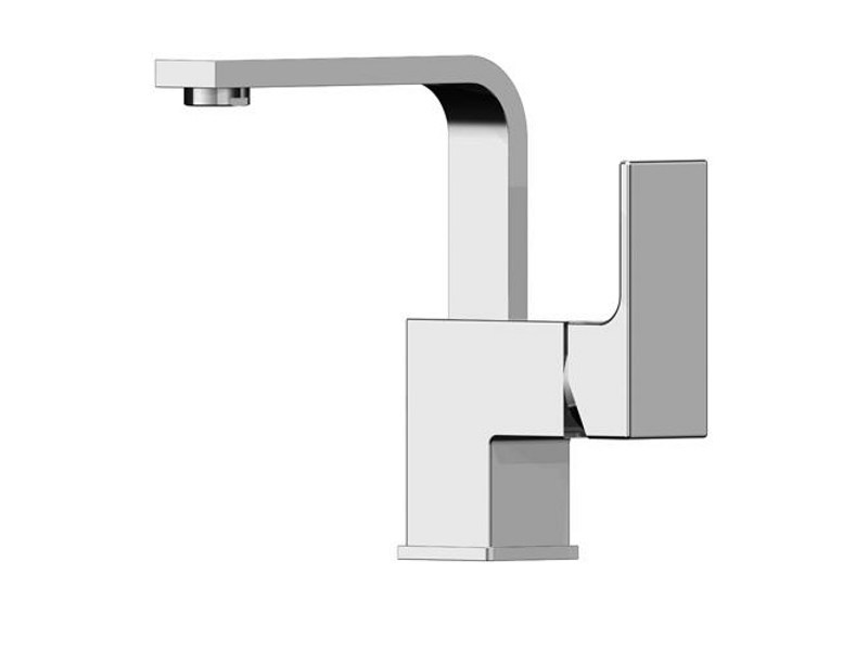 Washbasin mixer without waste KUBIK by Gattoni Rubinetteria