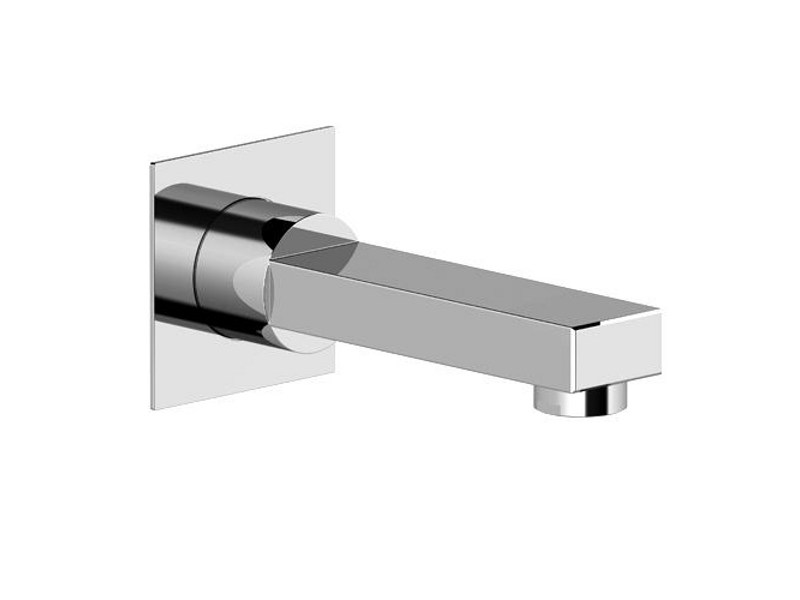 Wall-mounted bathtub spout KUBIK by Gattoni Rubinetteria
