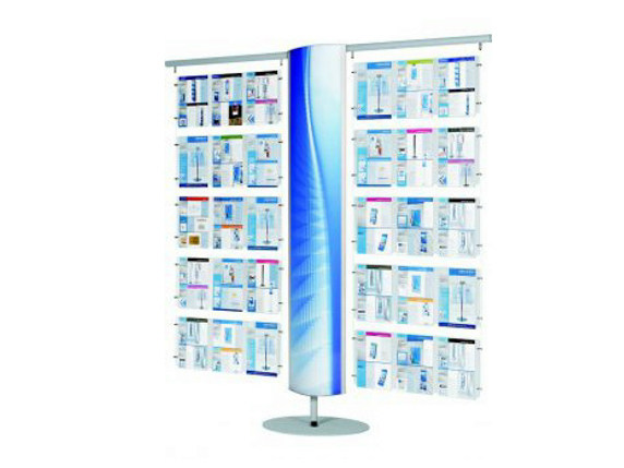 Double-sided column display stand T-TREE-L DISPLAY by GEPROM design