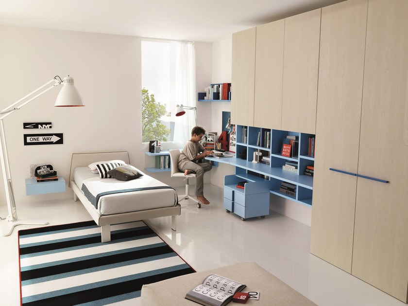 Fitted teenage bedroom Z237 | Bedroom set by Zalf