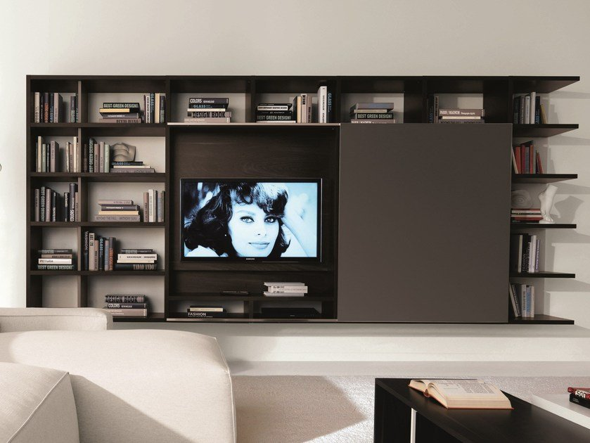 Wall-mounted storage wall LINK SYSTEM | Storage wall by Zalf