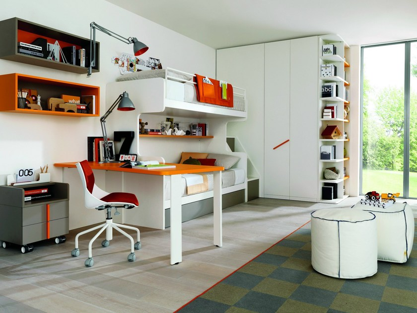 Fitted teenage bedroom Z235 | Bedroom set by Zalf