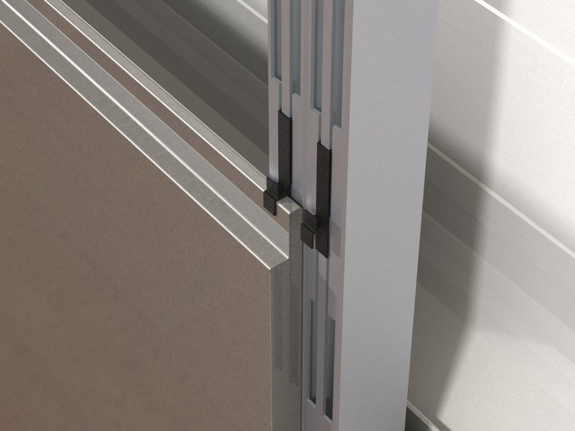 Dettaglio sistema parete ventilata