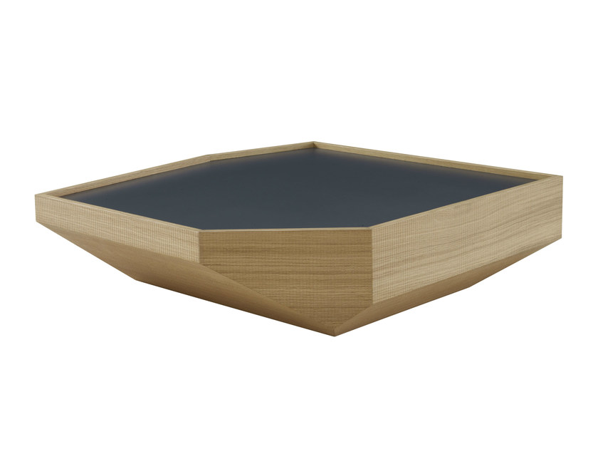 Low wooden coffee table POPPY PATTERSON by Ligne Roset