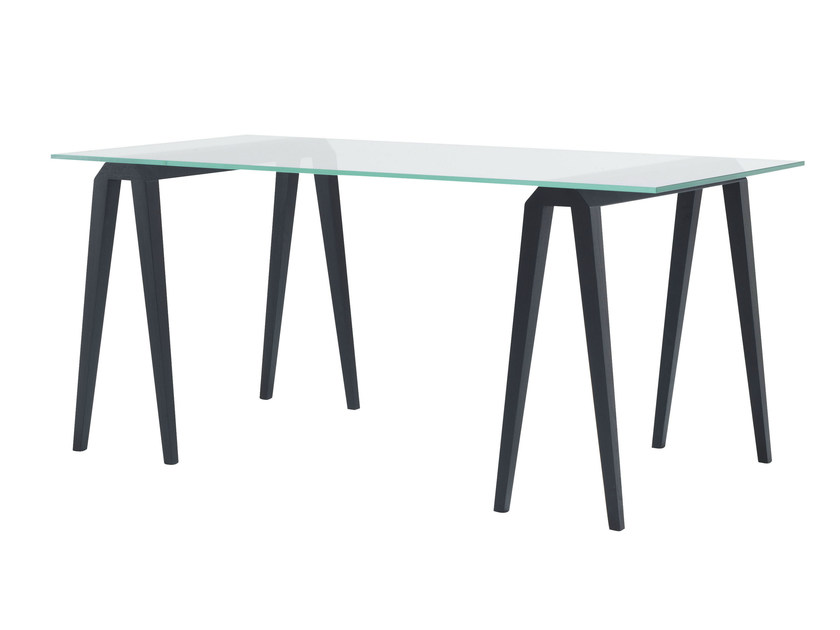 Glass table / writing desk VILLA ROSE by Ligne Roset