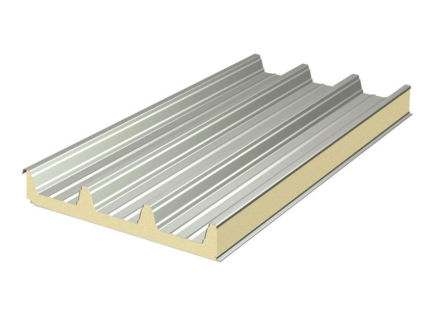 Insulated metal panel for roof MEGA 106 by ITALPANNELLI