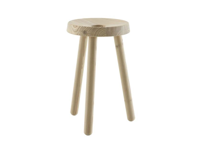 Wooden garden stool JEAN BAPTISTE by Ligne Roset