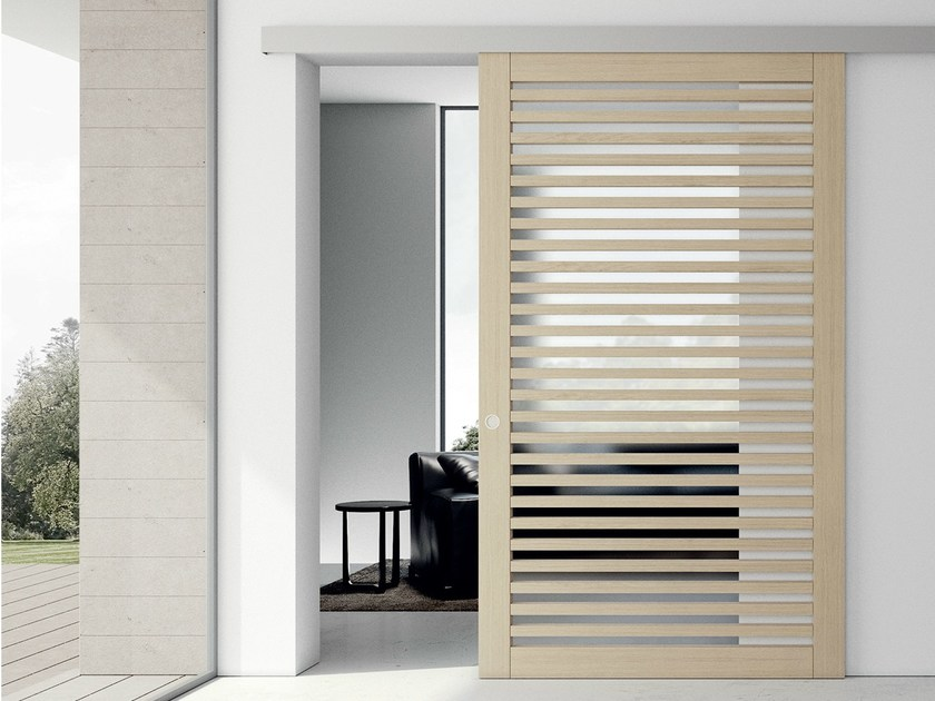 Oak sliding door PATMOS | Sliding door by MOVI ITALIA