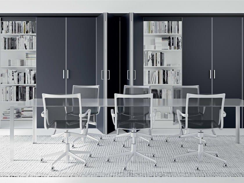Movable wall / door FLECTO | Folding movable wall by MOVI ITALIA