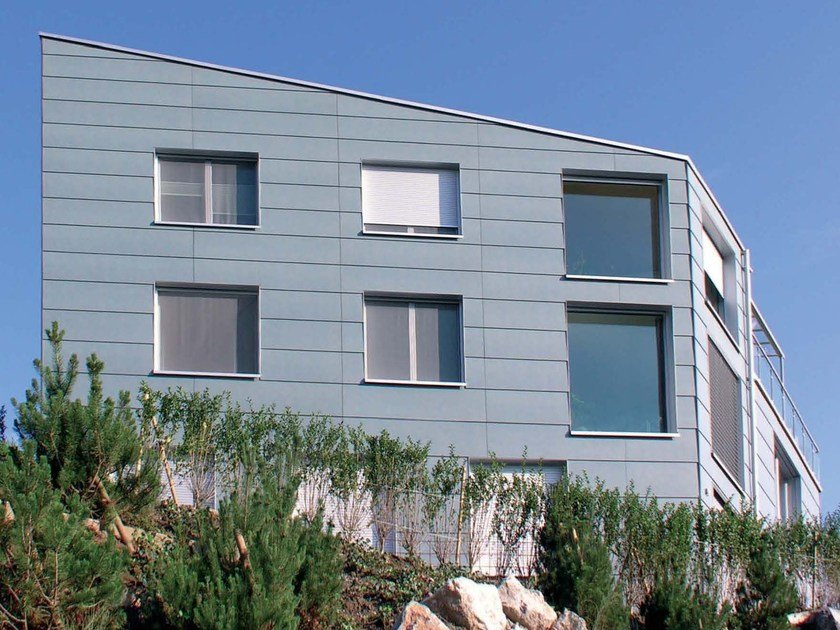Dry-laid cement and fibre cement sheet MODULA C by SWISSPEARL Italia
