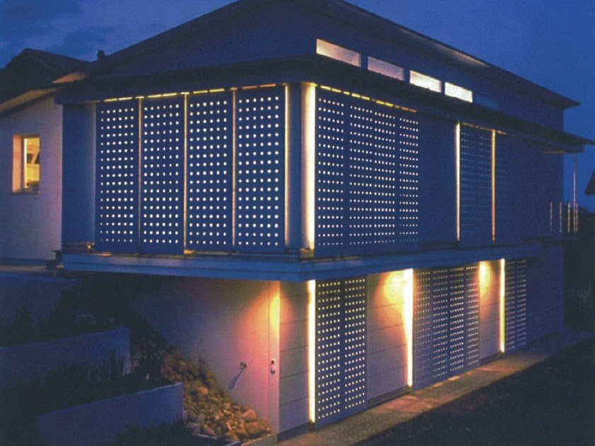 Dry-laid cement and fibre cement sheet SWISSPEARL® | Perforated panels by SWISSPEARL Italia