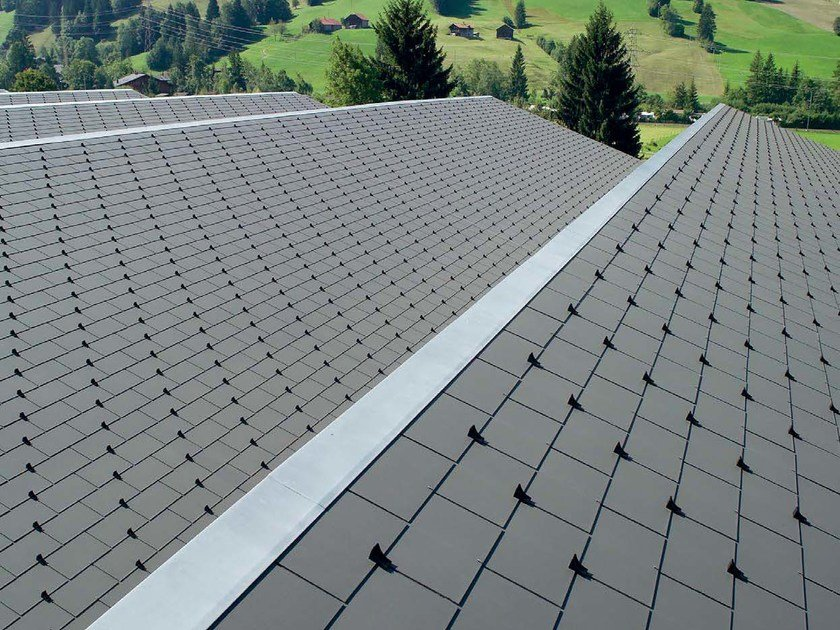 Roofing panel and sheet in fibre cement ROOF SLATE Eternit by SWISSPEARL Italia