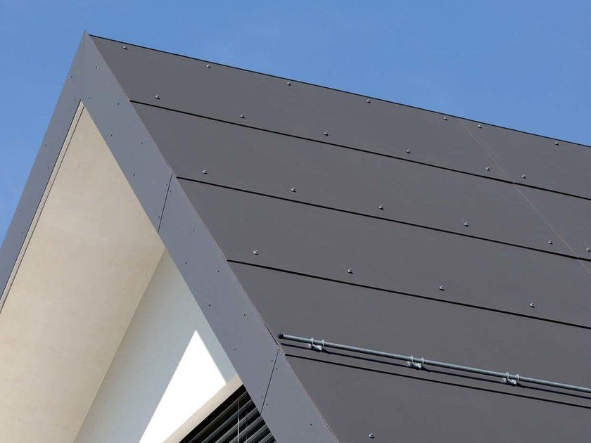 Roofing panel and sheet in fibre cement PLANCOLOR by SWISSPEARL Italia