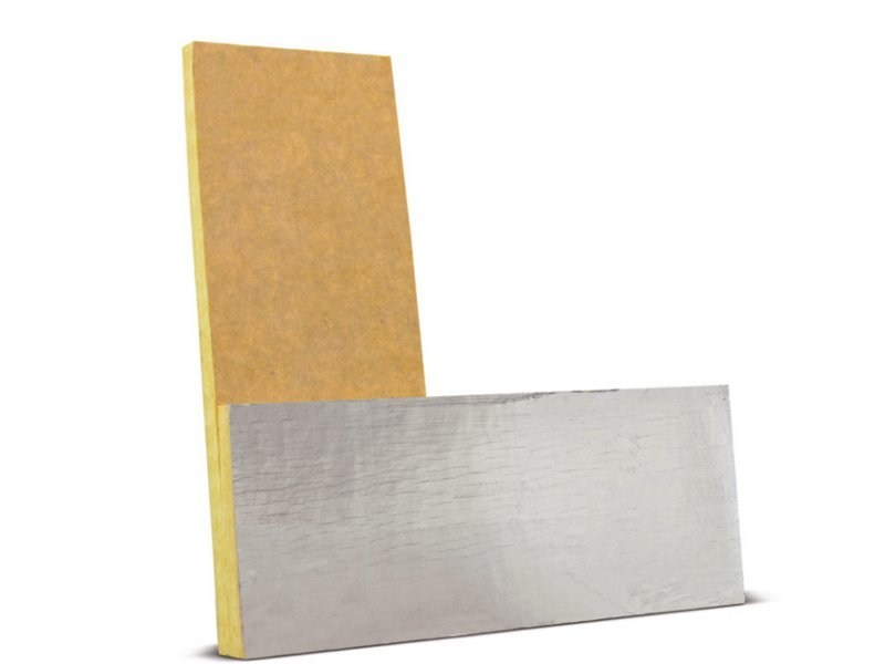 Thermal insulation sheet and panel in mineral fibre SAGLAN FA LIGHT by FORTLAN - DIBI