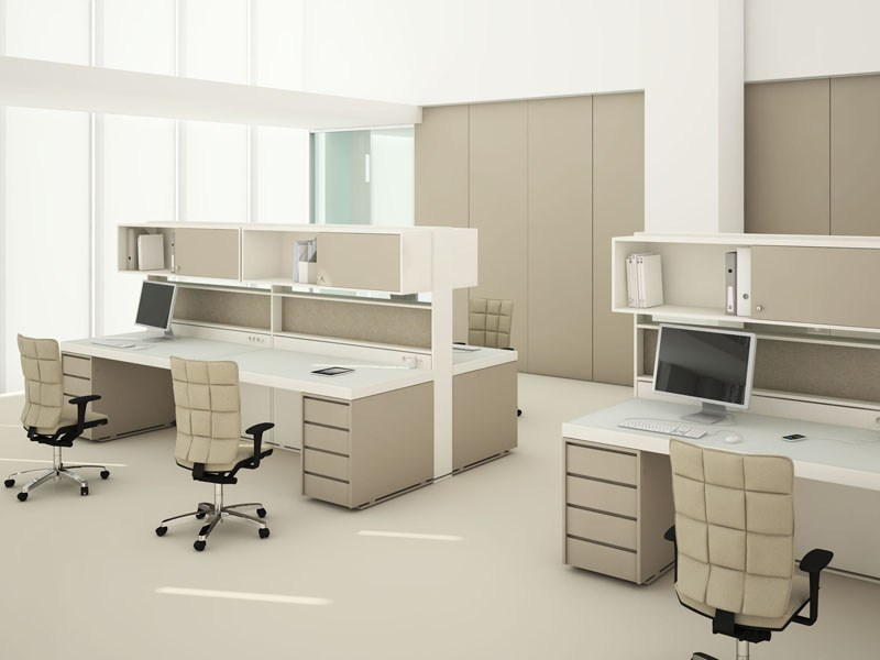 Multiple office workstation ACUSTIC WALL by ESTEL GROUP