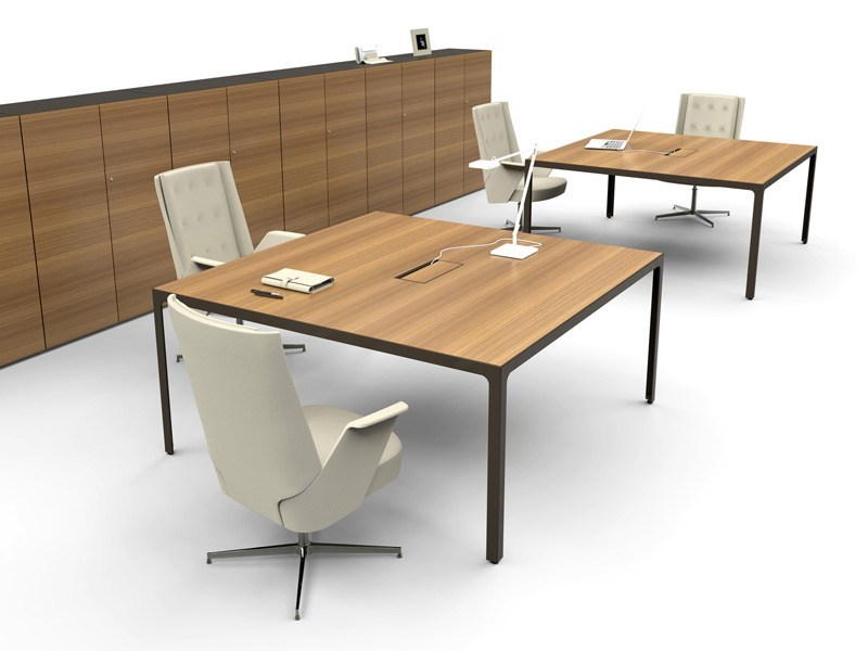 Square wooden meeting table MORE | Square meeting table by ESTEL GROUP
