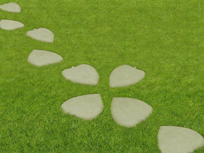 Reconstructed stone garden paths LEAF by SAS Italia