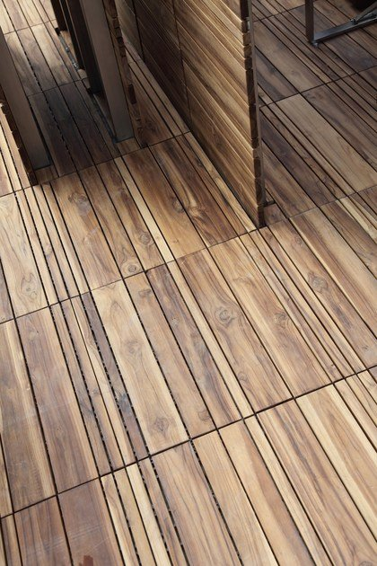 Wooden decking DECKOUT - QUADROTTA MIX by MENOTTI SPECCHIA