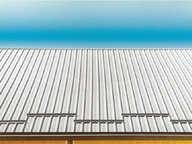 Metal sheet and panel for roof GENUS 800 by UNIMETAL