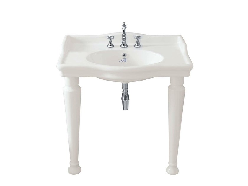 Console ceramic washbasin HILLINGDON RETRÒ 860 | Console washbasin by GENTRY HOME