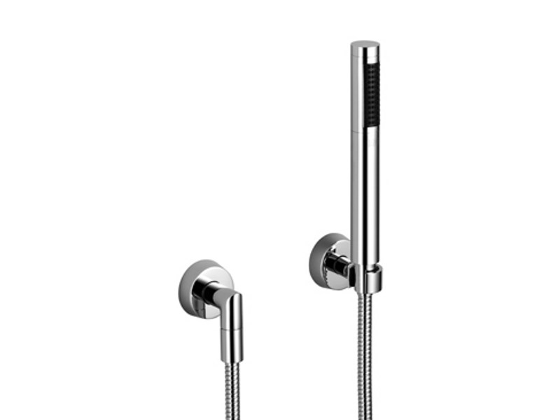 Chrome-plated handshower with hose with individual rosettes SELV by Dornbracht