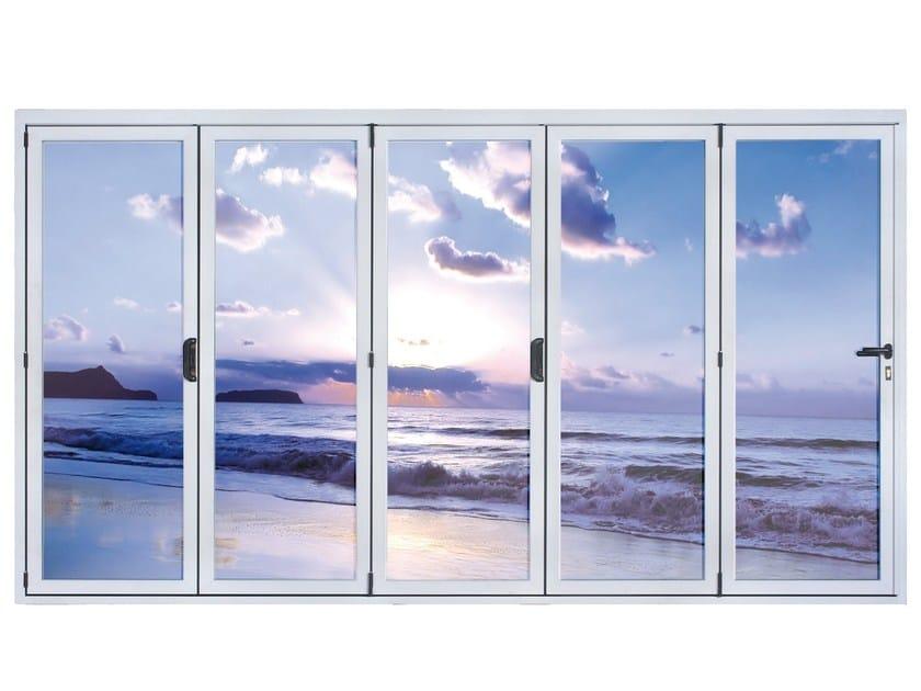 Folding aluminium glass facade EKU® VERANDA by PROFILATI