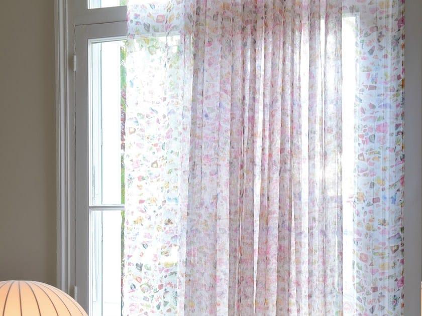 Linen fabric for curtains PORCELAINE by Élitis