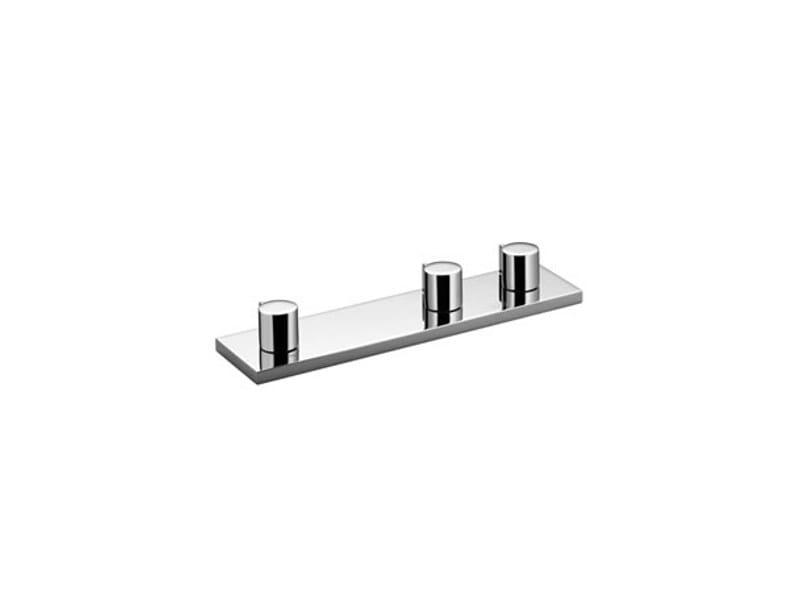 Chrome-plated bathtub tap with diverter SYMETRICS by Dornbracht