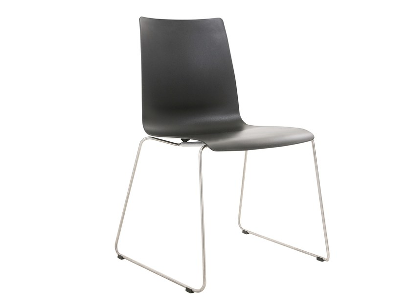 Sled base plastic chair ALEC PLUS | Sled base chair by KFF